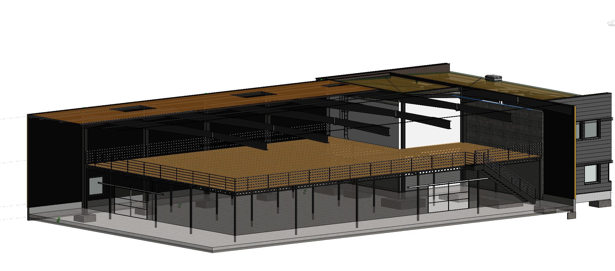modélisation 3D mezzanine