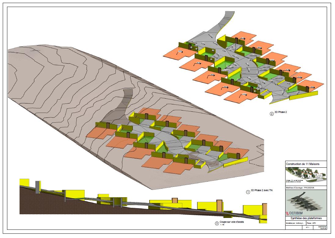 plan extrait maquette 3D Bim