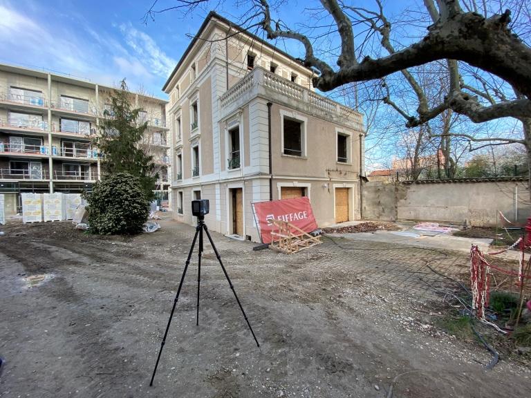 scan 3D d'une maison pour relevé de côtes